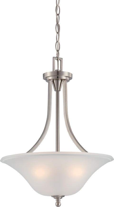 Nuvo Lighting 60/4147 Surrey 3 Light Pendant Fixture with Frosted Glass