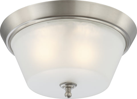 Nuvo Lighting 60/4153 Surrey 3 Light Flush Dome Fixture with Frosted Glass