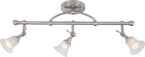 Nuvo Lighting 60/4154 Surrey 3 Light Fixed Track Bar with Frosted Glass (3) 50W Halogen Lamps Included