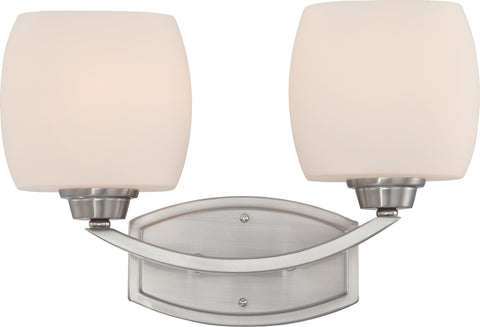 Nuvo Lighting 60/4182 Helium 2 Light Vanity Fixture with Satin White Glass