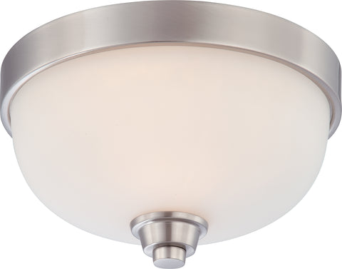 Nuvo Lighting 60/4191 Helium 1 Light Flush Dome Fixture with Satin White Glass