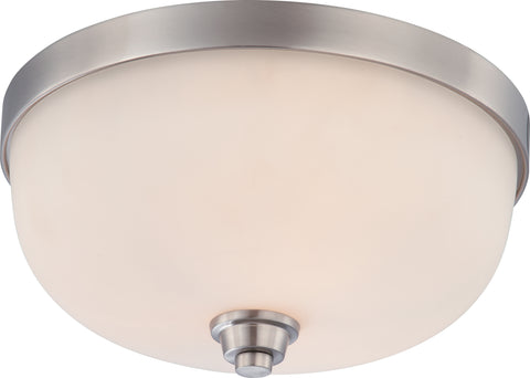 Nuvo Lighting 60/4193 Helium 3 Light Flush Dome Fixture with Satin White Glass