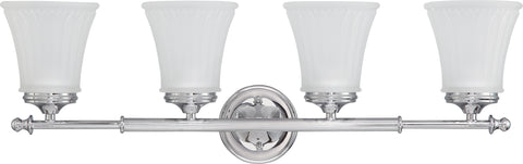 Nuvo Lighting 60/4264 Teller 4 Light Vanity Fixture with Frosted Etched Glass