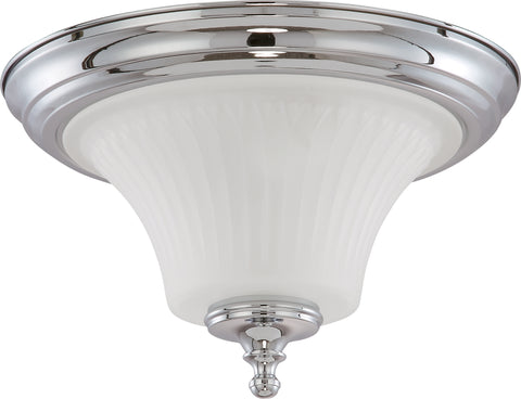 Nuvo Lighting 60/4271 Teller 2 Light Flush Dome Fixture with Frosted Etched Glass