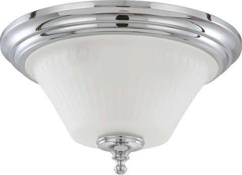 Nuvo Lighting 60/4272 Teller 3 Light Flush Dome Fixture with Frosted Etched Glass