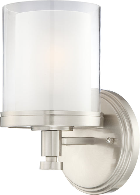 Nuvo Lighting 60/4641 Decker 1 Light Vanity Fixture with Clear and Frosted Glass