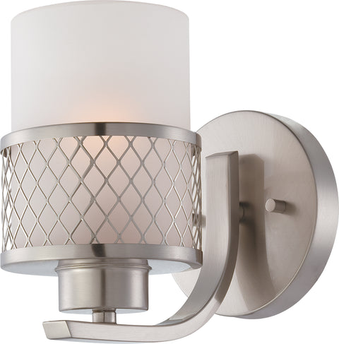 Nuvo Lighting 60/4681 Fusion 1 Light Vanity Fixture with Frosted Glass