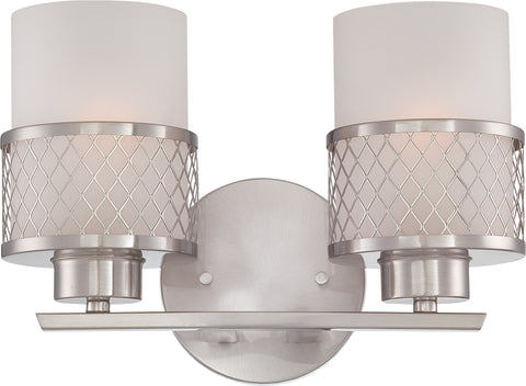 Nuvo Lighting 60/4682 Fusion 2 Light Vanity Fixture with Frosted Glass