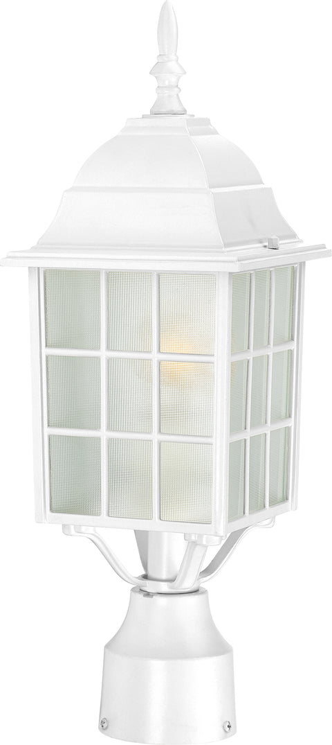 Nuvo Lighting 60/4907 Adams 1 Light 17 Inch Outdoor Post with Frosted Glass