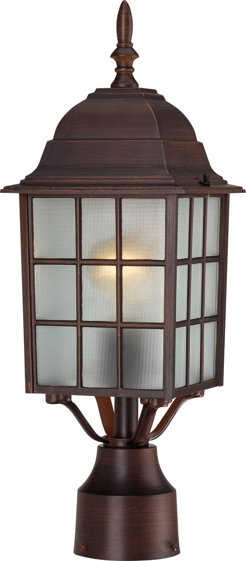 Nuvo Lighting 60/4908 Adams 1 Light 17 Inch Outdoor Post with Frosted Glass