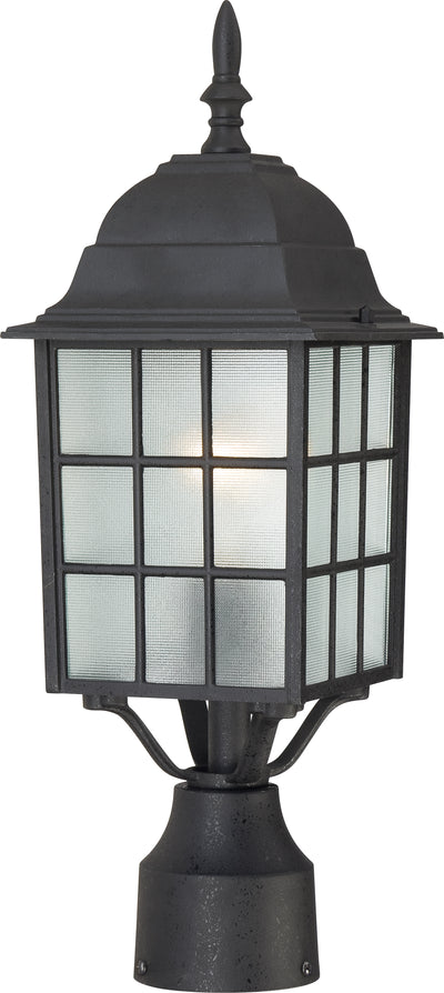 Nuvo Lighting 60/4909 Adams 1 Light 17 Inch Outdoor Post with Frosted Glass