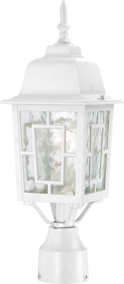 Nuvo Lighting 60/4927 Banyan 1 Light 17 Inch Outdoor Post with Clear Water Glass