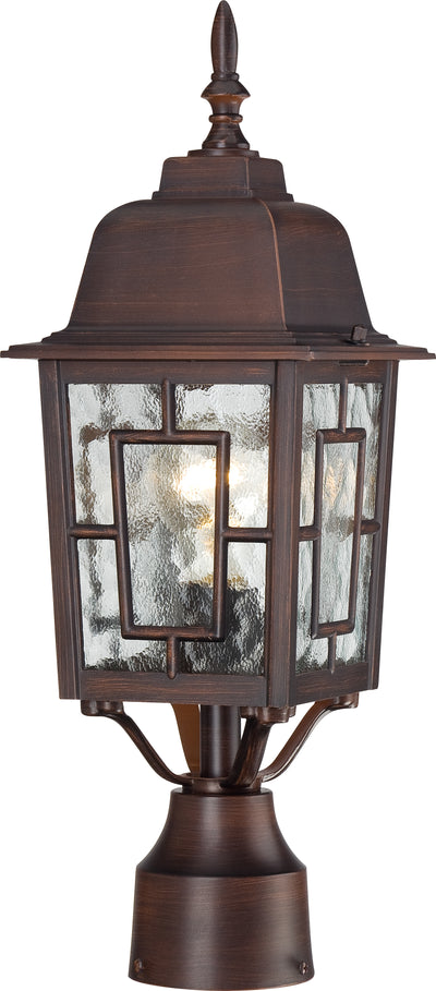 Nuvo Lighting 60/4928 Banyan 1 Light 17 Inch Outdoor Post with Clear Water Glass