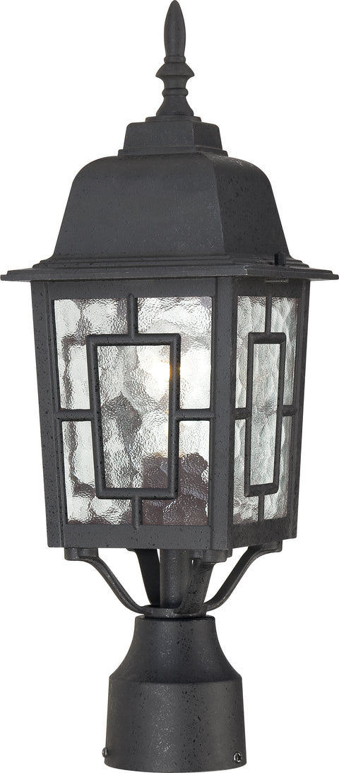 Nuvo Lighting 60/4929 Banyan 1 Light 17 Inch Outdoor Post with Clear Water Glass