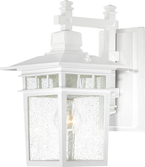 Nuvo Lighting 60/4957 Cove Neck 1 Light 14 Inch Outdoor Lantern with Clear Seed Glass