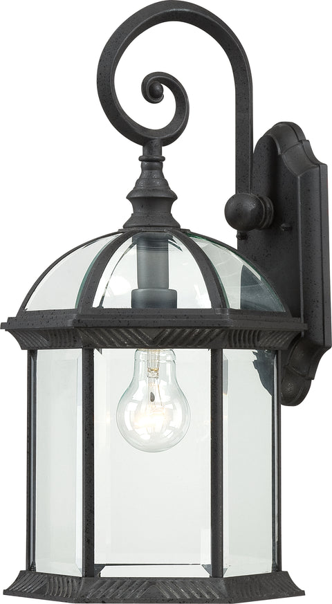 Nuvo Lighting 60/4966 Boxwood 1 Light 19 Inch Outdoor Wall Mount Sconce with Clear Beveled Glass