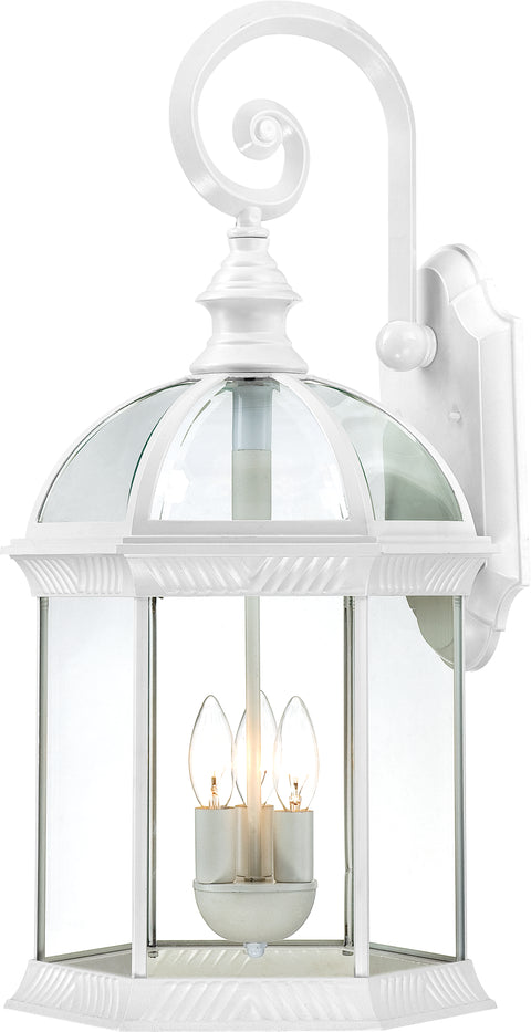 Nuvo Lighting 60/4967 Boxwood 3 Light 26 Inch Outdoor Wall Mount Sconce with Clear Beveled Glass