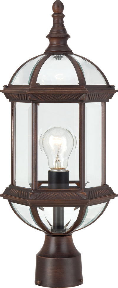 Nuvo Lighting 60/4975 Boxwood 1 Light 19 Inch Outdoor Post with Clear Beveled Glass