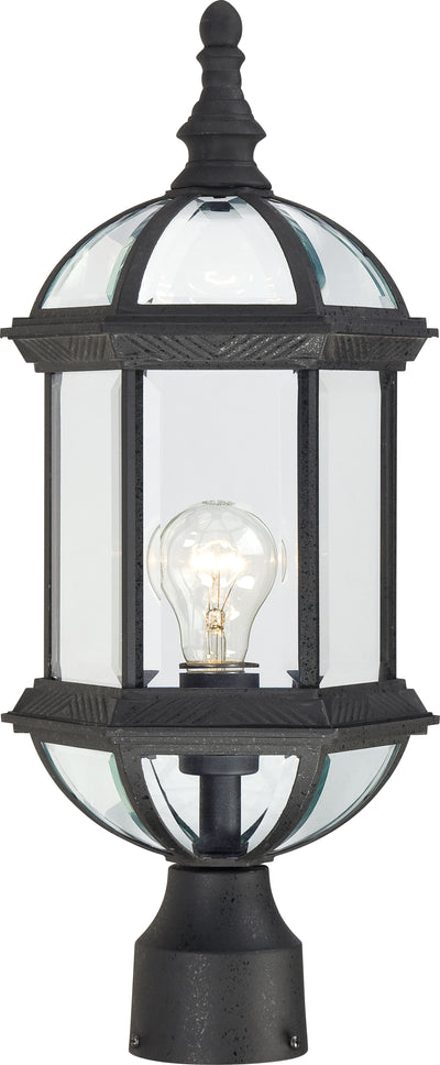 Nuvo Lighting 60/4976 Boxwood 1 Light 19 Inch Outdoor Post with Clear Beveled Glass