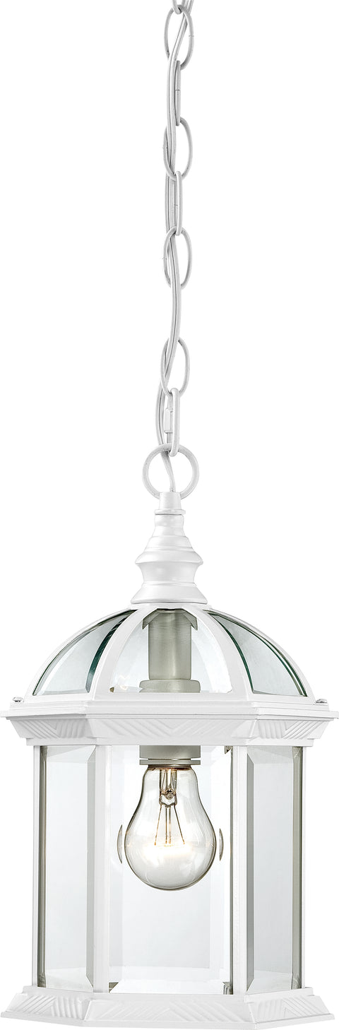 Nuvo Lighting 60/4977 Boxwood 1 Light 14 Inch Outdoor Hanging with Clear Beveled Glass