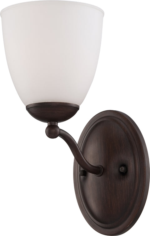 Nuvo Lighting 60/5131 Patton 1 Light Vanity Fixture with Frosted Glass