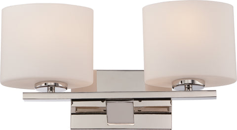 Nuvo Lighting 60/5172 Breeze 2 Light Vanity Fixture with Etched Opal Glass
