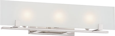 Nuvo Lighting 60/5177 Lynne 3 Light Halogen Vanity Fixture with Frosted Glass Lamps Included
