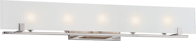 Nuvo Lighting 60/5178 Lynne 5 Light Halogen Vanity Fixture with Frosted Glass Lamps Included