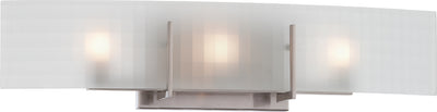 Nuvo Lighting 60/5187 Yogi 3 Light Halogen Vanity Fixture with Frosted Glass Lamps Included