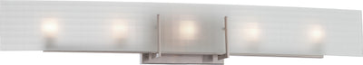 Nuvo Lighting 60/5188 Yogi 5 Light Halogen Vanity Fixture with Frosted Glass Lamps Included