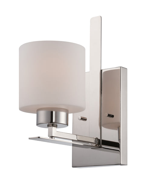 Nuvo Lighting 60/5201 Parallel 1 Light Vanity Fixture with Etched Opal Glass