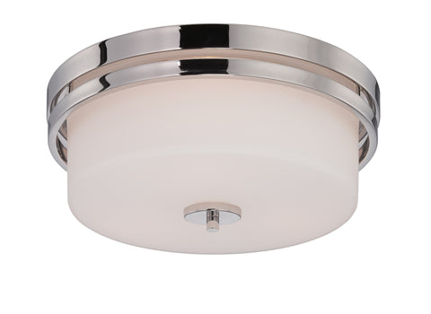 Nuvo Lighting 60/5207 Parallel 3 Light Flush Fixture with Etched Opal Glass
