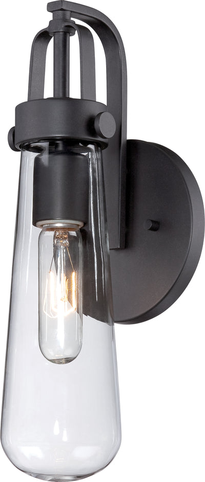 Nuvo Lighting 60/5361 Beaker 1 Light Wall Mount Sconce Sconce with Clear Glass