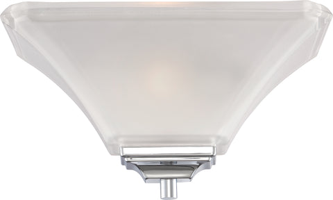 Nuvo Lighting 60/5373 Parker 1 Light Wall Mount Sconce Sconce Polished Chrome with Sandstone Etched Glass