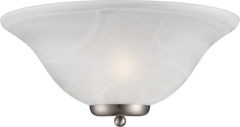 Nuvo Lighting 60/5381 Ballerina 1 Light Wall Mount Sconce Sconce Brushed Nickel with Alabaster Glass