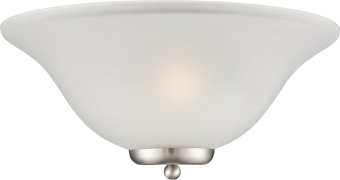 Nuvo Lighting 60/5382 Ballerina 1 Light Wall Mount Sconce Sconce Brushed Nickel with Frosted Glass