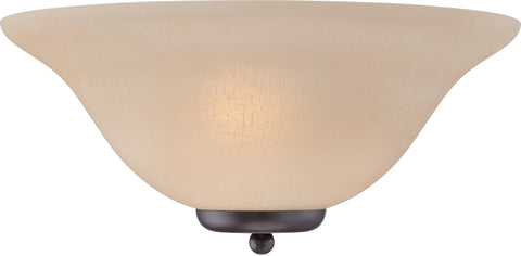 Nuvo Lighting 60/5384 Ballerina 1 Light Wall Mount Sconce Sconce Mahogany Bronze with Champagne Linen Glass