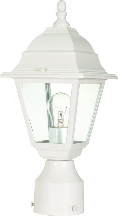 Nuvo Lighting 60/546 Briton 1 Light 14 Inch Post Lantern with Clear Glass