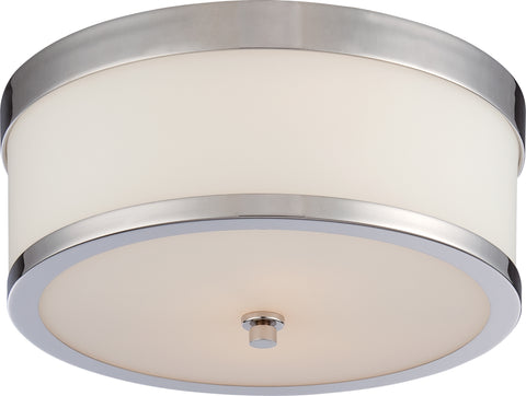 Nuvo Lighting 60/5476 Celine 2 Light Flush Fixture with Etched Opal Glass