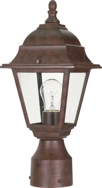 Nuvo Lighting 60/547 Briton 1 Light 14 Inch Post Lantern with Clear Glass