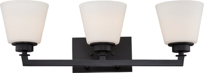 Nuvo Lighting 60/5553 Mobili 3 Light Vanity Fixture with Satin White Glass