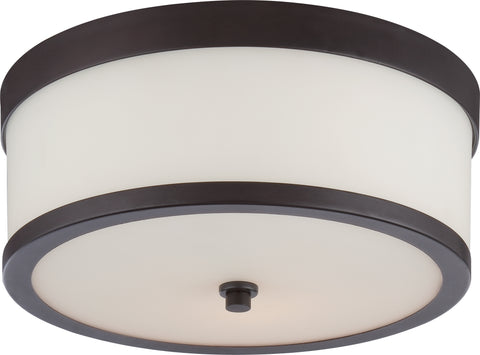 Nuvo Lighting 60/5576 Celine 2 Light Flush Fixture with Etched Opal Glass