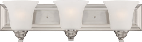 Nuvo Lighting 60/5593 Elizabeth 3 Light Vanity Fixture with Frosted Glass