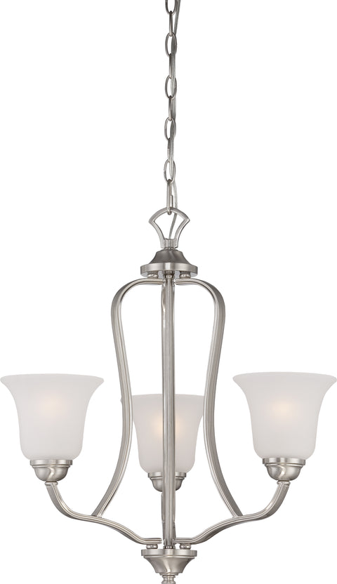 Nuvo Lighting 60/5596 Elizabeth 3 Light Chandelier with Frosted Glass