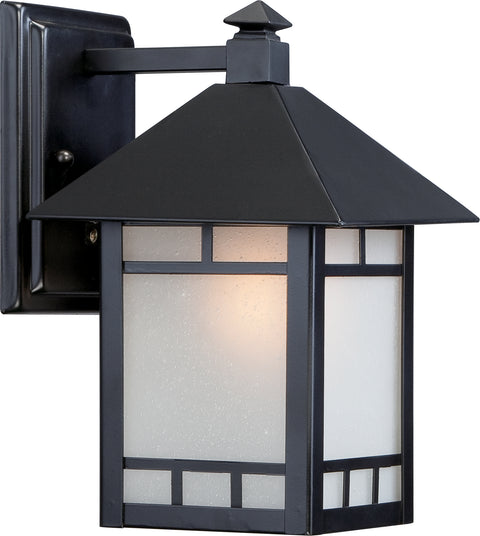 Nuvo Lighting 60/5601 Drexel 1 light 7 Inch Outdoor Wall Mount Sconce Fixture with Frosted Seed Glass