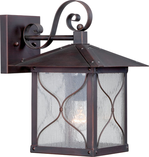 Nuvo Lighting 60/5612 Vega 1 light 9 Inch Outdoor Wall Mount Sconce Fixture with Clear Seed Glass