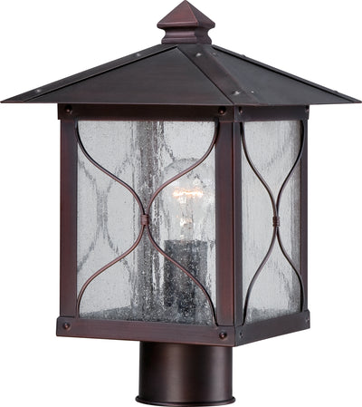 Nuvo Lighting 60/5615 Vega 1 light Outdoor Post Fixture with Clear Seed Glass