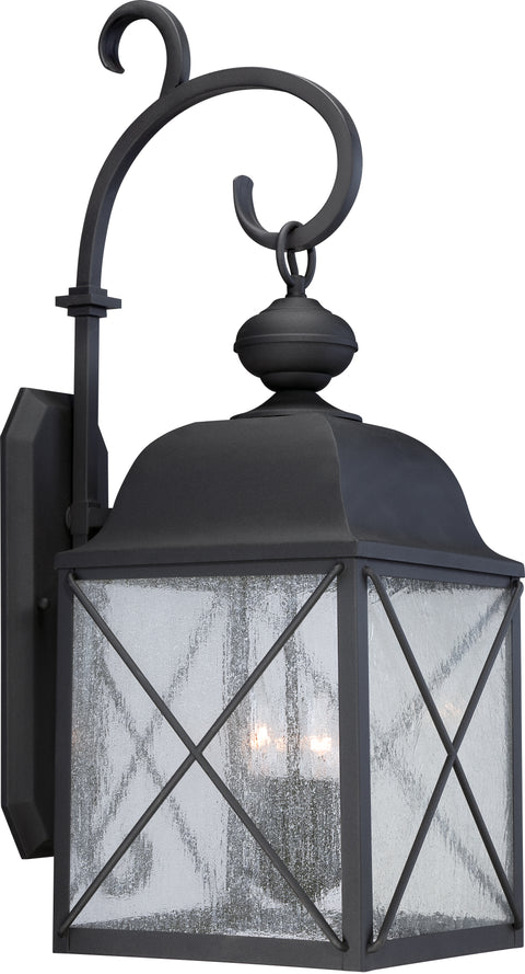 Nuvo Lighting 60/5623 Wingate 1 light 10 Inch Outdoor Wall Mount Sconce Fixture with Clear Seed Glass