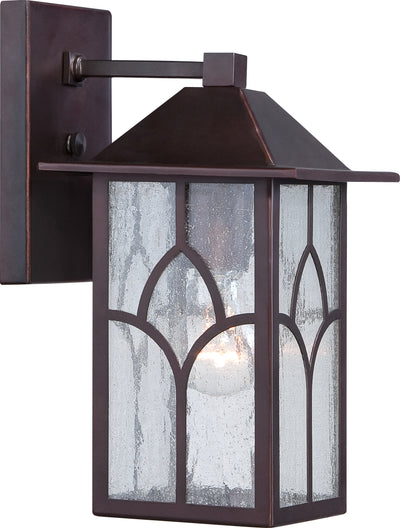 Nuvo Lighting 60/5641 Stanton 1 light 6 Inch Outdoor Wall Mount Sconce Fixture with Clear Seed Glass