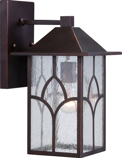 Nuvo Lighting 60/5642 Stanton 1 light 8 Inch Outdoor Wall Mount Sconce Fixture with Clear Seed Glass